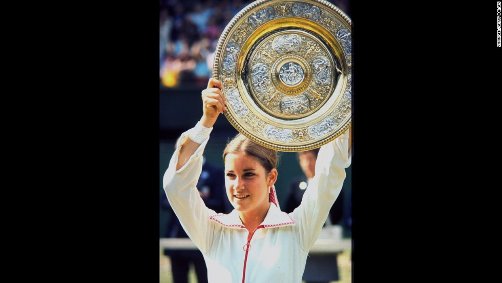 American tennis pro Chris Evert's Grand Slam streak began at the 1974 French Open in June and continued for 13 consecutive seasons. The next month, she won her first singles championship at Wimbledon.