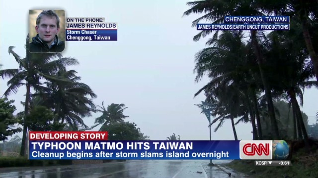 Typhoon Matmo hits Taiwan