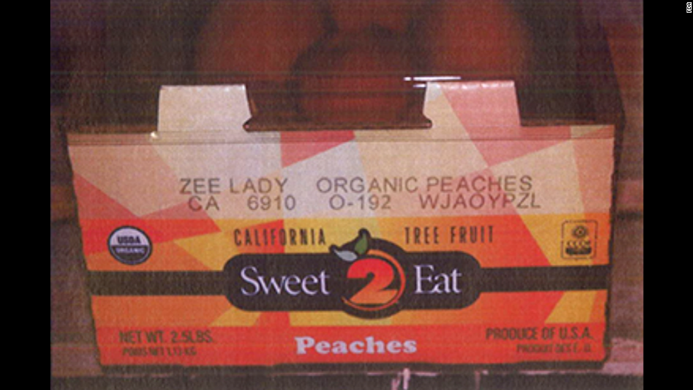 Costco organic peaches (2 1/2 lbs. carton)