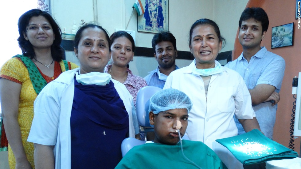 Ashik Gavai underwent a six-hour operation to remove abnormal dental growth from his mouth.