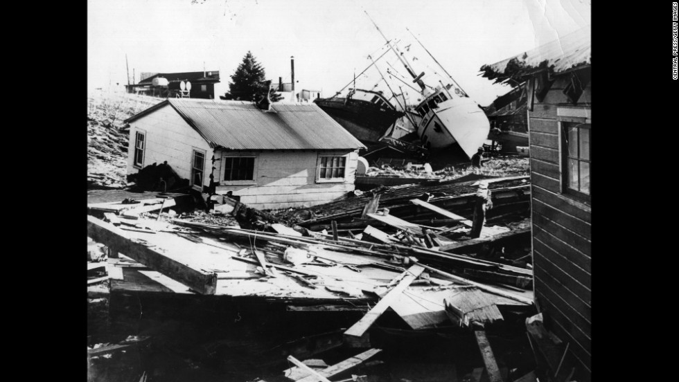 "On March 27, 1964 -- Good Friday -- the area around <strong>Anchorage, Alaska, was shaken by a magnitude 9.2 earthquake</strong>, the most powerful earthquake in U.S. history. An estimated 139 people died, most due to tsunamis in Alaska and down North America's West Coast. It made the front page, but a similar event today, thanks to news-gathering technology, would likely be even more heavily covered. At least <a href=""http://www.adn.com/article/20140323/seismic-shift-how-1964-alaska-earthquake-changed-science"" target=""_blank"">scientists learned a lot</a>."