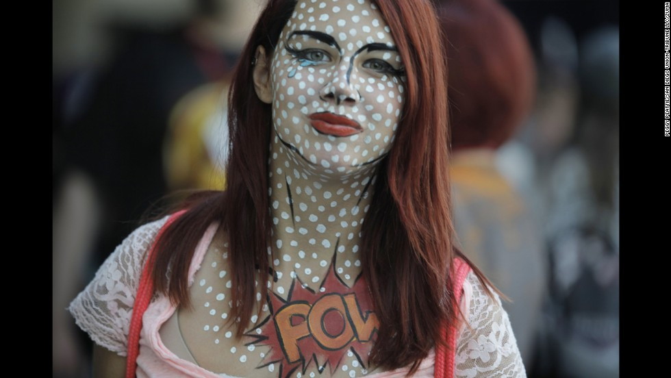A young woman from Sacramento decided to go old-school with her makeup for Comic-Con on July 24.