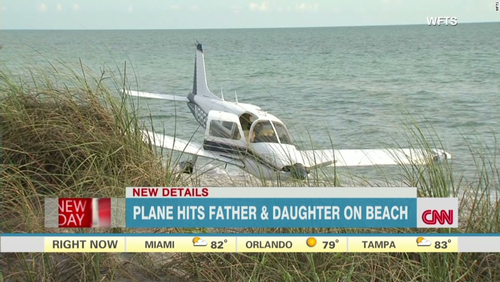 Emergency landing on Florida beach kills beachgoer, injures daughter