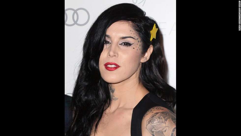 "In her autobiography, TV personality and tattoo artist Kat Von D calls her body the ""canvas"" of her experiences."