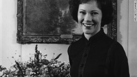 circa 1970:  Rosalynn Smith Carter, wife of American president Jimmy Carter. She grew up alongside the future president in Plains, Georgia and assisted him in running his family peanut farm.  (Photo by MPI/Getty Images)