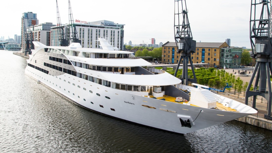 "Can't afford a superyacht of your own? You could always stay at <a href=""http://edition.cnn.com/2014/08/11/sport/inside-londons-67m-superyacht-hotel/"">London's Sunborn Superyacht Hotel. </a>Opened last year, it features 136 rooms costing between $300 and $1,600 per night."