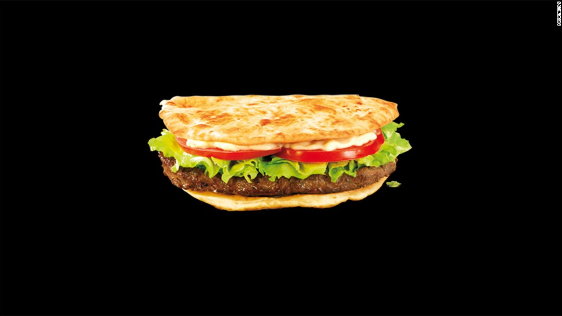"This ground beef sandwich with onions, cumin, and coriander is marketed as the McArabia sandwich in Morocco. According to McDonald's Morocco, it contains ""a thousand and one flavors"" that ""wake up our taste buds."""