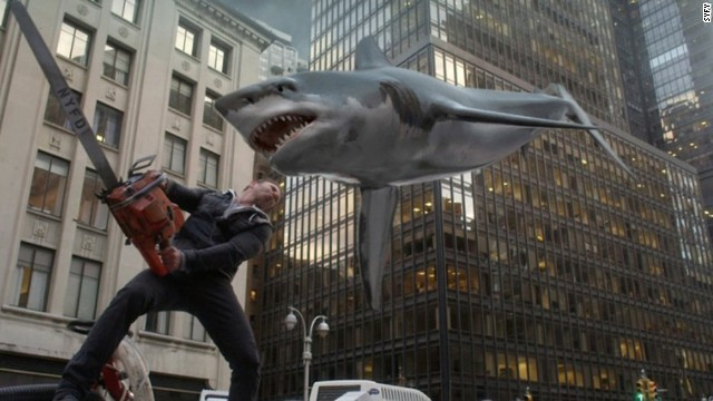 "Ian Ziering returns as Fin Shepard in the sequel ""Sharknado 2: The Second One."""