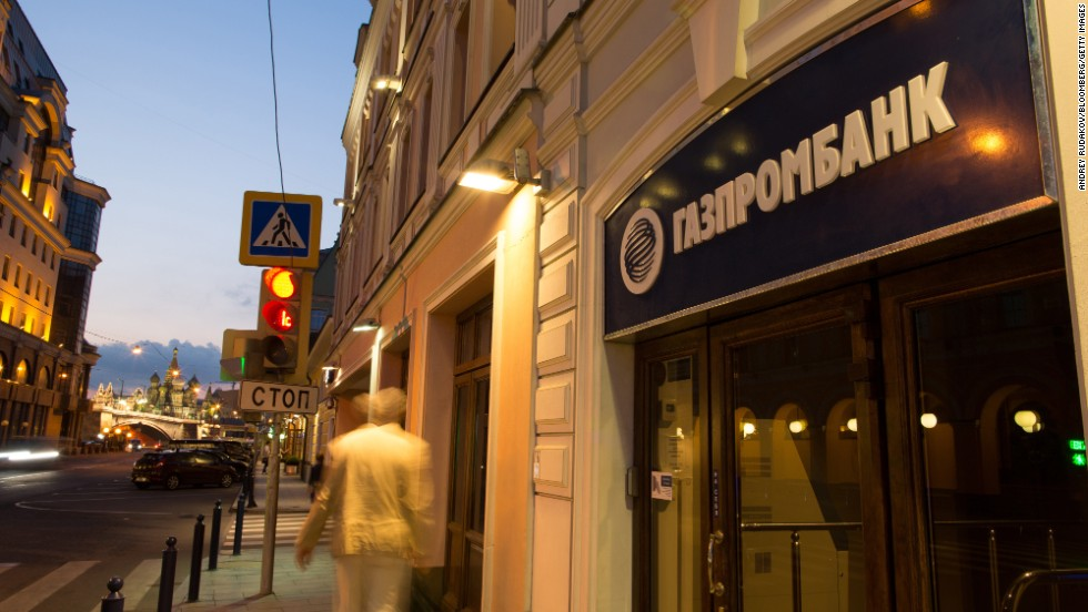 Founded by the energy giant Gazprom, Gazprombank is the third largest bank in Russia. It says it has four million clients.