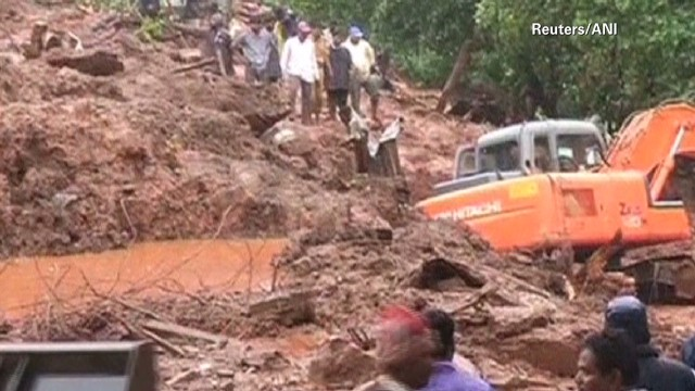 At least 30 killed by landslide in India
