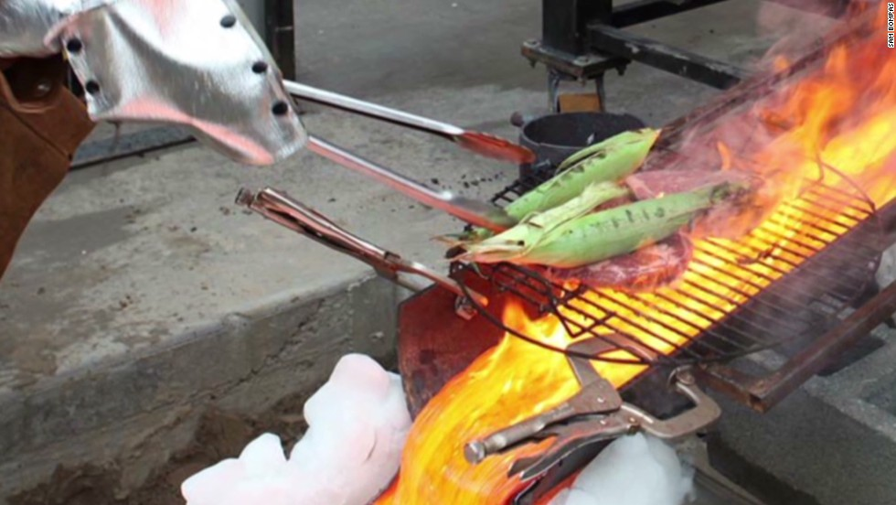 Would you eat steak grilled ... on lava? - CNN Video