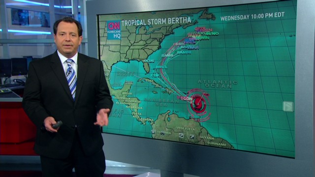 Tropical Storm churns past islands