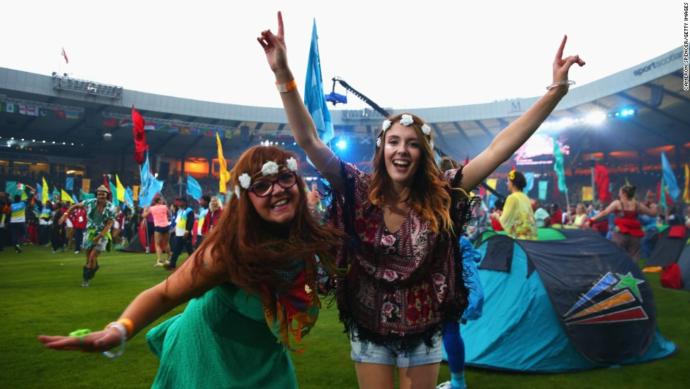 Revelers soak up the atmosphere during the closing ceremony.  In September, Scotland votes in an independence referendum to decide whether it should leave the United Kingdom.