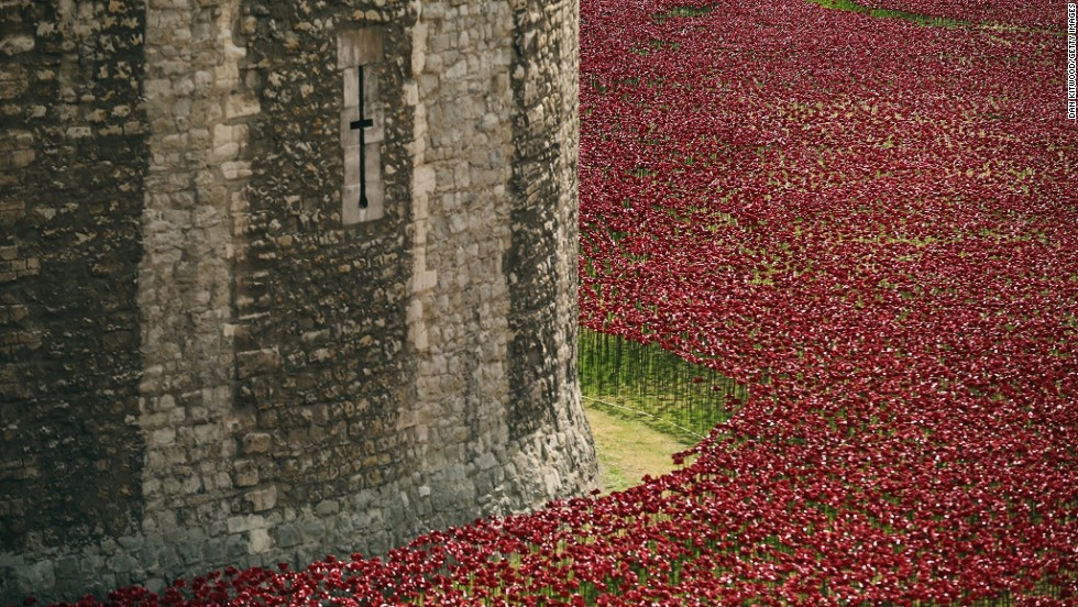 A percentage of money raised from the sale of the poppies will be divided among six UK military charities.