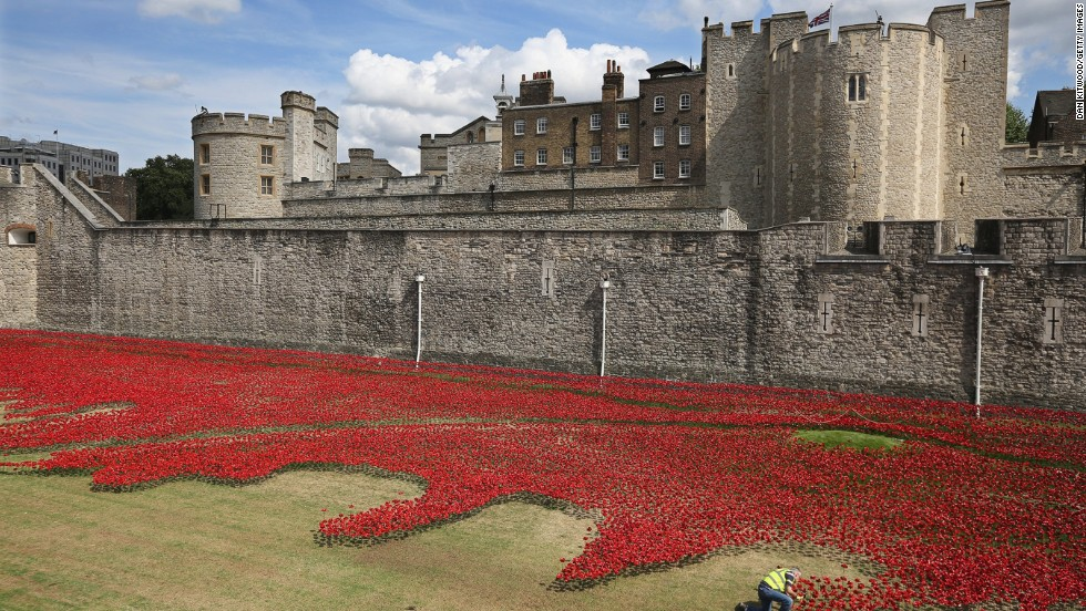 The moving tribute to Britain's military casualties is due to be completed by November 11, 2014 -- the day that commemorates the anniversary of the 1918 cease-fire on the conflict's Western Front and those who perished.