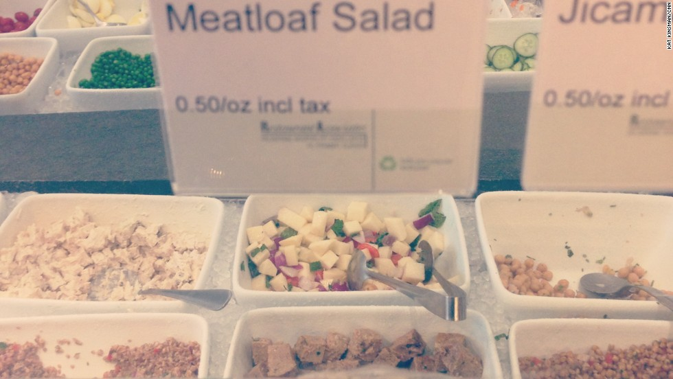 No, seriously, meatloaf salad