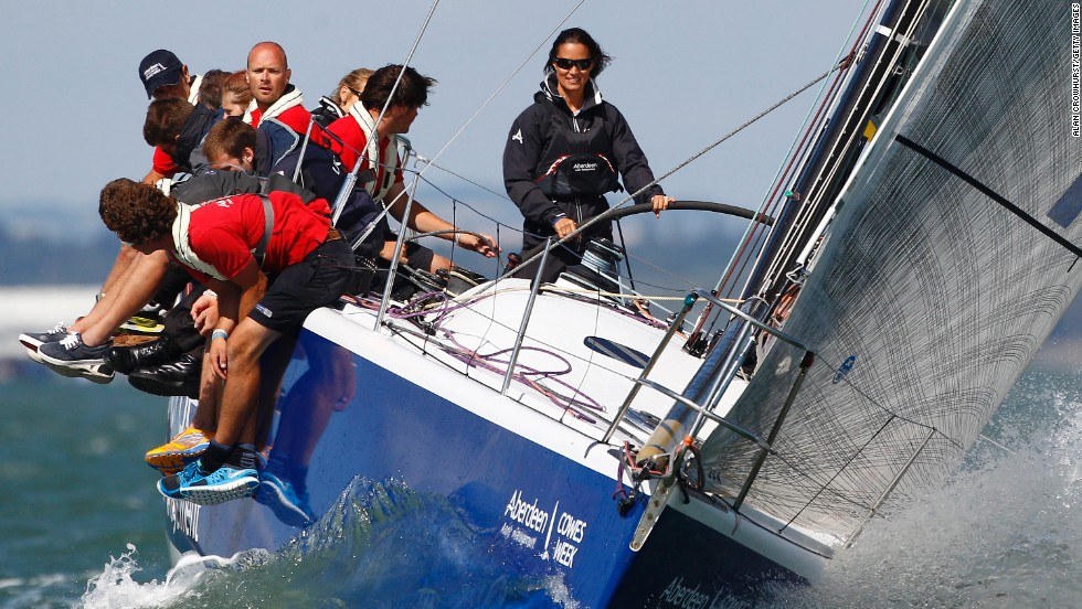 Pippa Middleton, sister of Catherine, Duchess of Cambridge, joins sailors with youth charity UKSA during Cowes Week on Sunday, August 3. Cowes Week, one of the largest sailing regattas in the world, takes place in the Solent, a strait between England's mainland and the Isle of Wight.