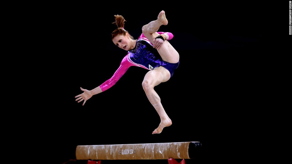 Australian gymnast Olivia Vivian competes in the individual all-around final Wednesday, July 30, during the Commonwealth Games in Glasgow, Scotland. She finished fifth in the event, which was won by England's Claudia Fragapane.