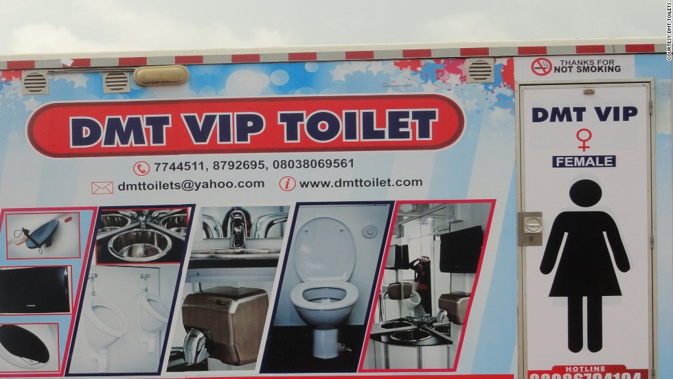 "<strong>DMT Toilets</strong><br /><br />When Isaac Durojaiye worked as a security expert, he was asked to procure mobile toilets for a lavish wedding organised by his boss. This gave him the idea to develop it into a business, DMT Toilets, which is today run by CEO Caje Oleforo. <br /><br />""Mobile toilets have become a status symbol,"" says Oleforo, ""You cannot imagine a wedding without them anymore."" Marriage celebrations account for about 40% of DMT's revenue, and the exterior of the units is often decorated with pictures of the happy couple. <br /><br />For those who want something extra special, the company offers a range of VIP toilets equipped with red carpets, flat screen TVs, air-conditioning, mp3 players and plush interiors, costing between $900 and $2,700.<br />"