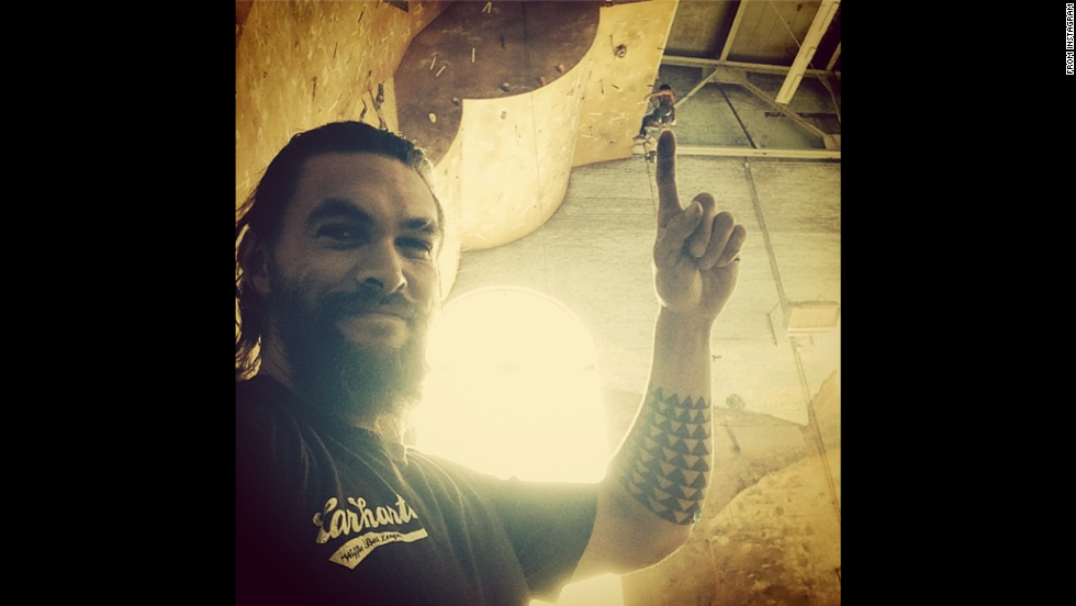 "Actor Jason Momoa posted a <a href=""http://instagram.com/p/rP7XCnPHL5/"" target=""_blank"">behind-the-scenes photo</a> Sunday, August 3, while on the set of a commercial for clothing company Carhartt."