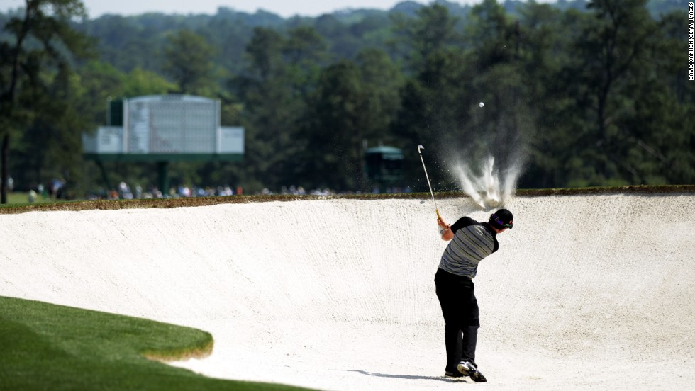 "Few would've guessed what was to follow for Rory McIlroy at the start of his infamous final round at the 2011 Masters.<br /><br />Then 21, the Northern Irishman held a four-shot lead heading into the final day as he sought his first major title, but would soon fall way out of contention with a disastrous round of eight-over-par 80.<br /><br />""On the second hole, he drove into this bunker and I captured the moment his shot just clipped the face of the hazard,"" Cannon recalls.<br /><br />""He escaped with a par on a hole that he should birdie almost every time he plays it. Worse was to follow, but this was a great image that helped tell the story of his day.""<br />"