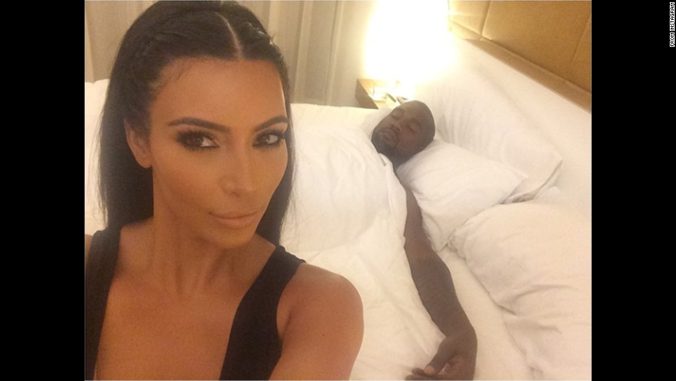 "Kim Kardashian <a href=""http://instagram.com/p/rL2QSeOS0c/ "" target=""_blank"">posted this photo</a> of her husband, rapper Kanye West, sleeping on Saturday, August 2."