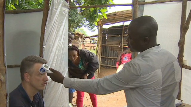 Going through Ebola checkpoint
