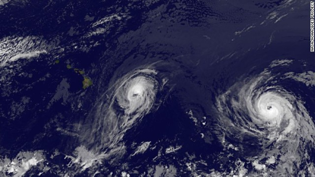 Two hurricanes are heading toward Hawaii