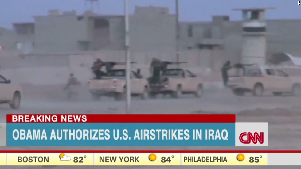 Obama authorizes airstrikes in Iraq - CNN Video