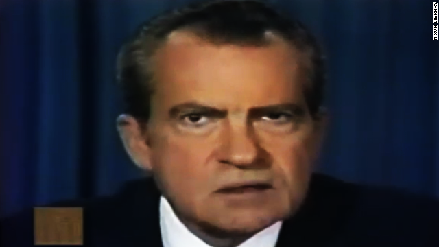 Watch Nixon resign the presidency