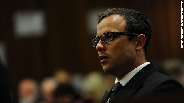 Oscar Pistorius in the Pretoria High Court on August 7, 2014, in Pretoria, South Africa.