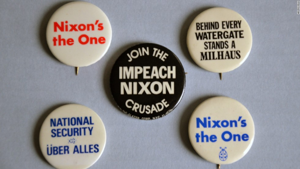 """Nixon's the one!"" offers an ironic recasting of Nixon's 1968 campaign slogan implying that he'd be the one to end the war in Vietnam."