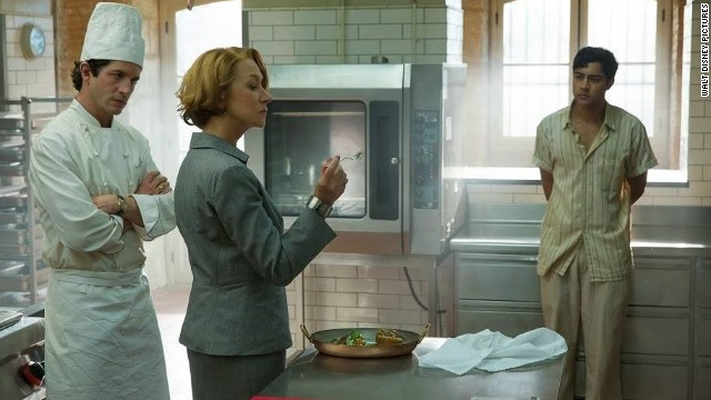 "Helen Mirren (center) plays a condescending French chef in ""The Hundred-Foot Journey."""