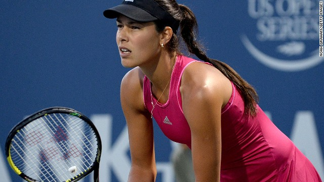 Ana Ivanovic of Serbia plays against Serena Williams of the United States of America during Day 5 of the Bank of the West Classic at the Taube Family Tennis Stadium on August 1, 2014 in Stanford, California. (Photo by Noah Graham/Getty Images