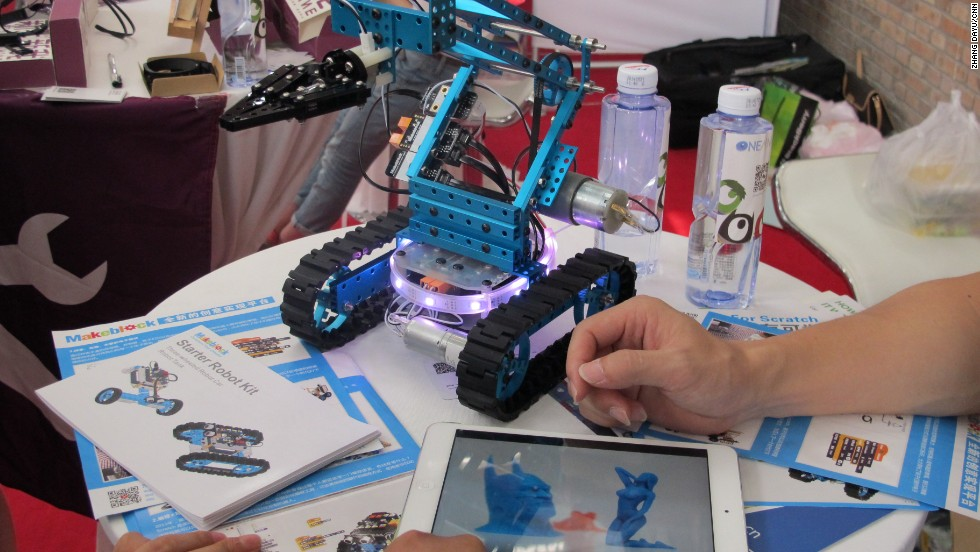 DIY kits designed by Shenzhen-based Makeblock allow you to make your own robot.  A starter kit costs $119.