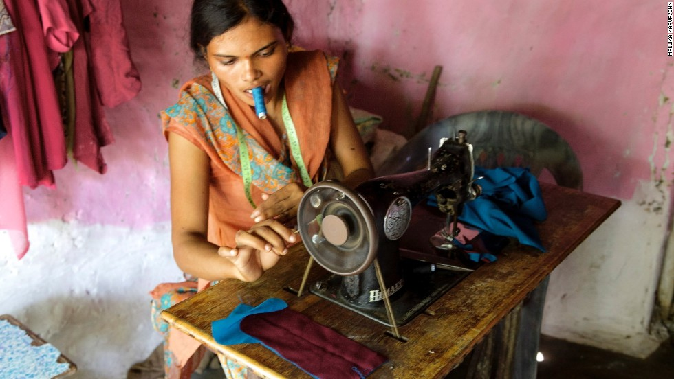 Sadhana Chaudhuri, who runs a small business tailoring clothes, participated in UNICEF's Building Young Futures Program -- or Deepshikha -- designed to unlock the potential of young women.