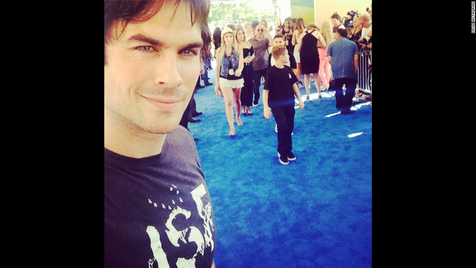 "Actor Ian Somerhalder takes a photo at the Teen Choice Awards in Los Angeles on Sunday, August 10. ""So grateful to you amazing TEENS!!!"" <a href=""http://instagram.com/p/ridtnGqJ1g/"" target=""_blank"">he wrote on Instagram. </a>""I love you guys!"""