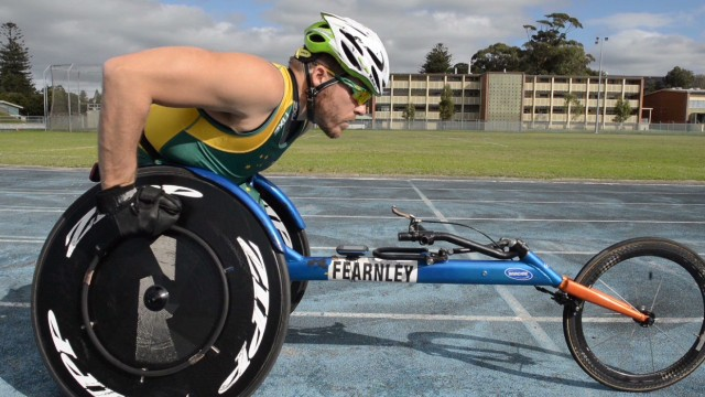 Wheelchair racer defies the odds