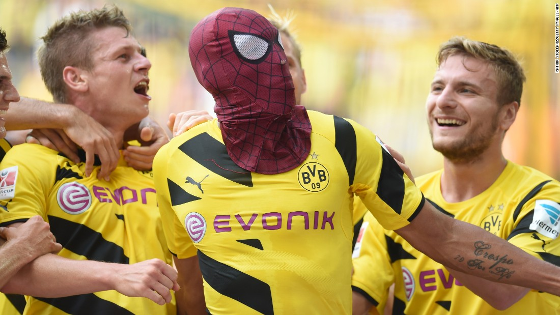 "Known for his innovative celebrations -- sometimes involving superhero masks -- Aubameyang tells CNN he wants to be remembered as the ""craziest ever"" footballer."