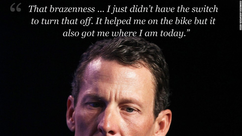 armstrong on brazenness