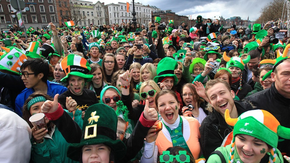 Any excuse for a party: Dublin scores third place in the Conde Nast Traveler list of friendliest cities.