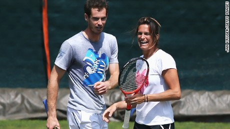 Murray with two-time grand slam champion Mauresmo