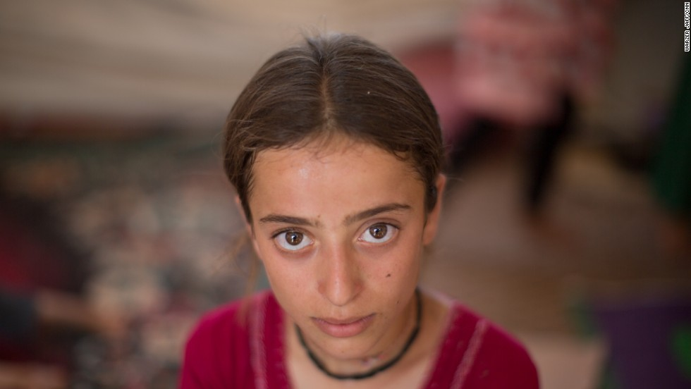 Dalia Jalal, 12, seen in the Nawroz refugee camp in Syria.