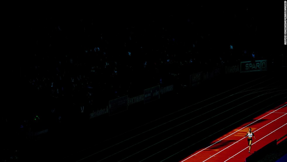 Turkish sprinter Meliz Redif competes in the women's 4x400-meter relay Saturday, August 16, at the European Athletics Championships in Zurich, Switzerland.