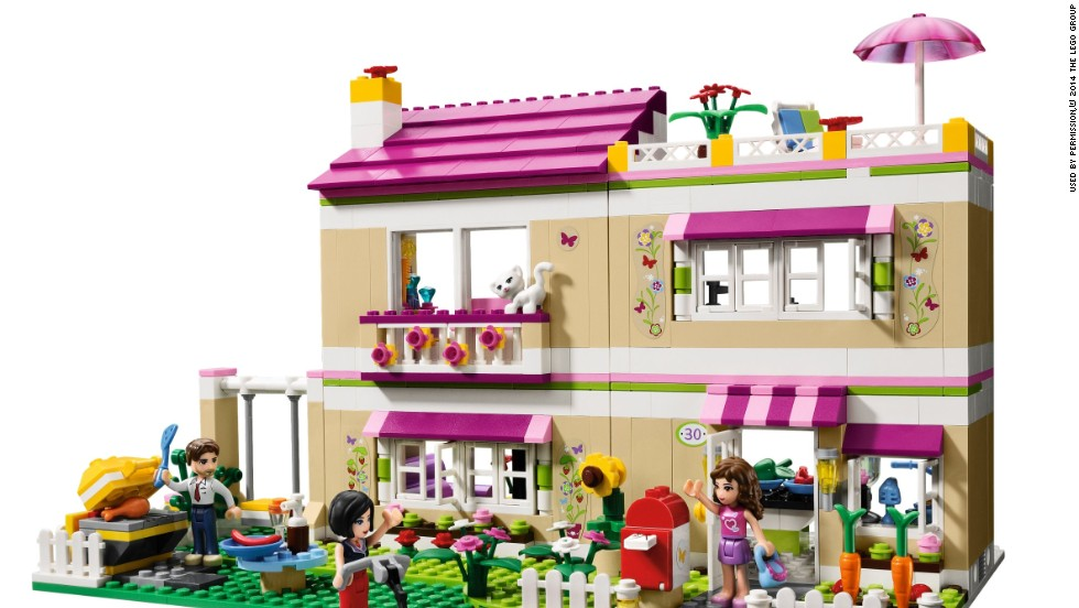 The Lego Friends series featured figures that stayed around the house or went to the beach or the pet shop.