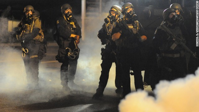 Smoke, gas, gunshots: Chaos in Ferguson