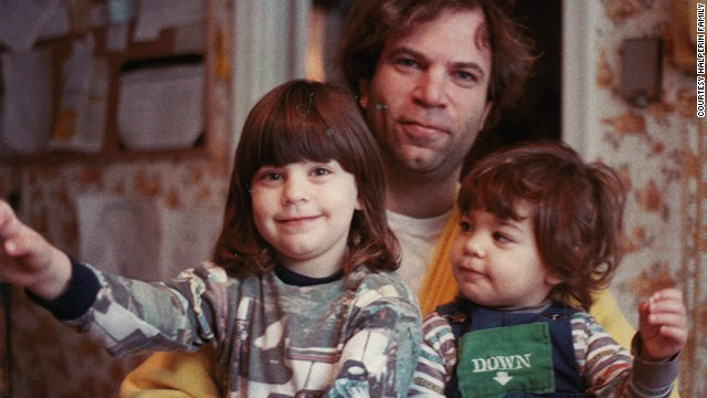 Sandy Halperin with daughters Karen, left, 4, and Lauren, 2, at their home in Needham, Massachusetts, in 1984.