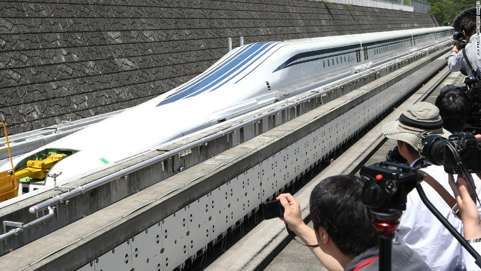 "Central Japan Railway plans to launch the new maglev service between Tokyo and Nagoya in 2027, but some fearless passengers  have already tested the service out -- <a href=""http://www.telegraph.co.uk/news/worldnews/asia/japan/10100045/Riding-Japans-maglev-super-floating-bullet-train.html"" target=""_blank"">hitting 500km/h in June of last year</a>."