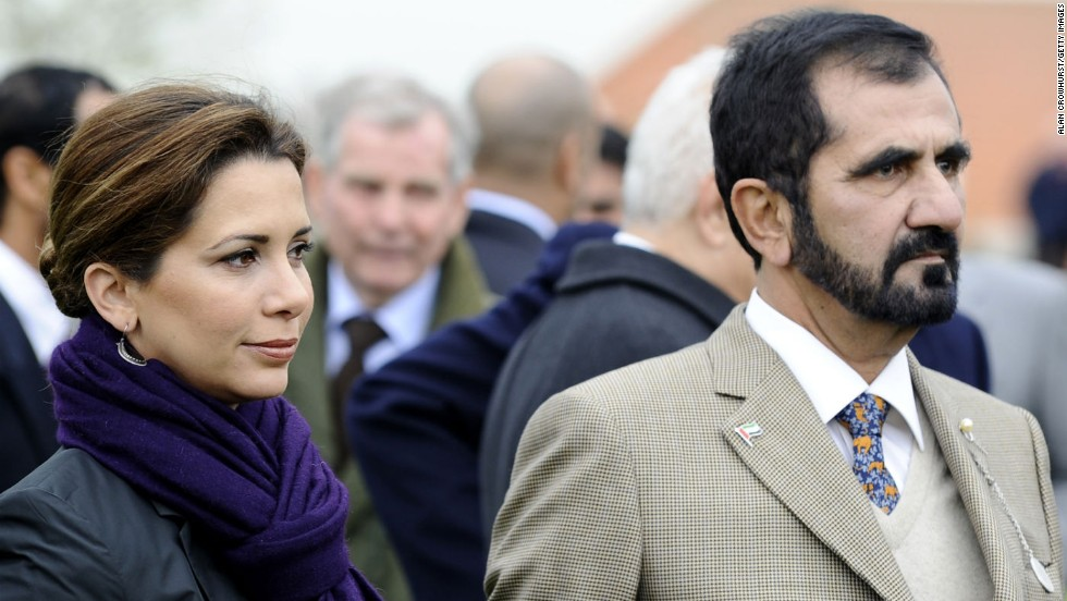 Sheikh Mohammed's wife is Princess Haya, who serves as president of the FEI, horse sport's world governing body. The two are shown here in 2011. Princess Haya recently announced she will step down as FEI president -- an election to replace her will be held in December.