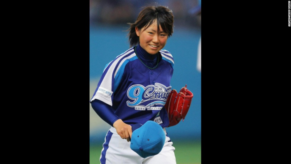 Eri Yoshida, then 17, became the first woman to play professional baseball with men in Japan when she pitched in an independent league game in 2009.
